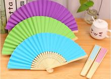 Free shipping,1pc,diy blank white paper folding fan 7 inch, Hand small fan cool fan folding fan cute,party supplies,gift