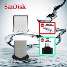 SanDisk CZ43 USB Flash Drive 64GB 32GB 16GB 128GB Pen Drives high speed USB 3.0 PenDrive + Micro USB OTG Plug for Android Mobile