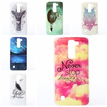 Never Stop Bad Dog Owl Deer Balloon Tower Design TPU Case sFor LG K7/ LG K10 K 10  Covers Soft Painted Cell Phone Bags