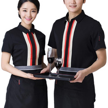 Hot Sale Restaurant Clothing Waitress Waiter Workwear Chef Uniform Hotel Kitchen Cook Short Sleeve Jacket Coat