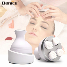 Benice Waterproof Electric Head Massage Wireless Scalp Massager Prevent Hair Loss Promote Hair Growth Tools Vibrating Brain Care