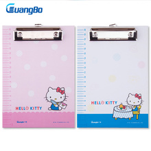 GUANGBO Fashion Clipboard Paper A5 Office Useful File Clip with Writting Drawing Pad Board Hello kitty Clipboards Holder Folder(China)