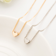 Tomtosh 1 pieces Trendy Tiny Heart Short Pendant Necklace Women Gold/Silver Chain Lover Lady Girl Gifts Bijoux Fashion Jewelry