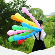 100 Pcs 2.5 g Screw Twisted Latex Balloon Spiral Thickening Long Balloon Bar KTV Party Supplies Strip Shape Balloon Toys