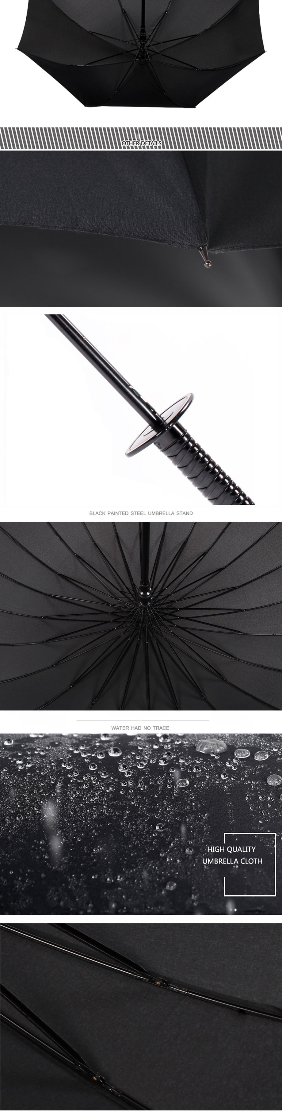 Japanese Windproof Ninja Samurai Sword Umbrella