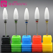MAOHANG Hot Ceramic Nail Drill Bit For electric manicure machine accessories Nail Art Tools Electric Manicure Cutter Nail Files