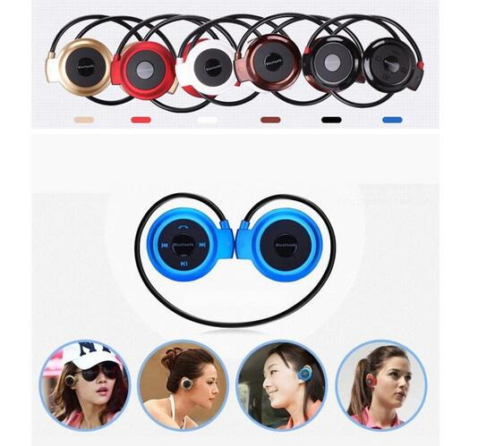 Multi 5 Colors Mini 503 Bluetooth Headset Neckband Stereo Wireless Sports Headphones For iPhone For IOS Android Phones<br><br>Aliexpress