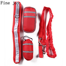Fine joy Dog Leashes Pet Running Sports Suit Reflective Traction Rope Set Running Traction Belt Training Packages(China)