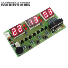 6 Digit Electronic Digital Alarm Clock Kits DIY Practice Set AT89C2051 C51 7-12V