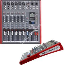MICWL LE6 Pro 6 Channel Stereo Microphone Mixer Sound Mixing Console with 99 DSP Effects MP3 USB 48V 24-Bit Multi-FX Processor