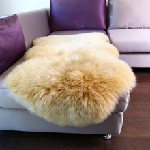 Luxury Imports 100% Pure Australia Wool Carpet Very Soft Lambskin Natural Irregular Colorful Carpet Mat Bedroom Sofa Continental