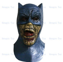 2013 Hot Selling Realistic Full Head Carnival Zombie Batman Mask Celebrations Party Adult Cap Halloween Mask(China)