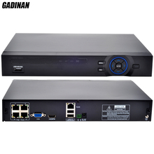 GADINAN 4 Channel Standard 48V POE 1080P NVR H.264 HDMI ONVIF FULL HD 4CH PoE NVR Built in POE RJ45 Port Surveillance DVR(China)