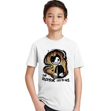Bendy and The Ink Machine Boys Girls Cartoon Anime T-shirt The Creator Lied To Us Letter Funny Print Kids T Shirt Summer Tshirt