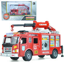 Alloy engineering vehicle rescue fire truck fire engine model 1:50 Children's toys June 1 children's New Year gift collection(China)