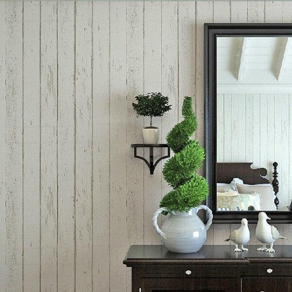 Mediterranean Style Retro Gray  Wooden Grain  Wall Paper Rolls Para  Quarto DZK11 papel de parede vintage<br>