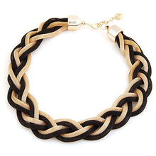 New 2016 High Quality Western Europe Bohemian style Punk Fashion Simple Metal braid Twist Chain Crude Necklace for women(China)