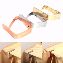 Simple 1 PCS Stainless Steel Tablecloth Tables Useful Clips Holder Cloth Clamps Picnic Party 3Colors