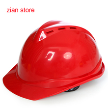 ABS Breathable work Safety helmet Work helmet Head protection anti hitting safety helmet construction Hard Hat Free paint(China)