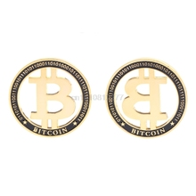 Buy Commemorative Coin Plated Golden Hollow Bitcoin BTC Souvenir Art Collection J05 Dropshipping for $1.32 in AliExpress store