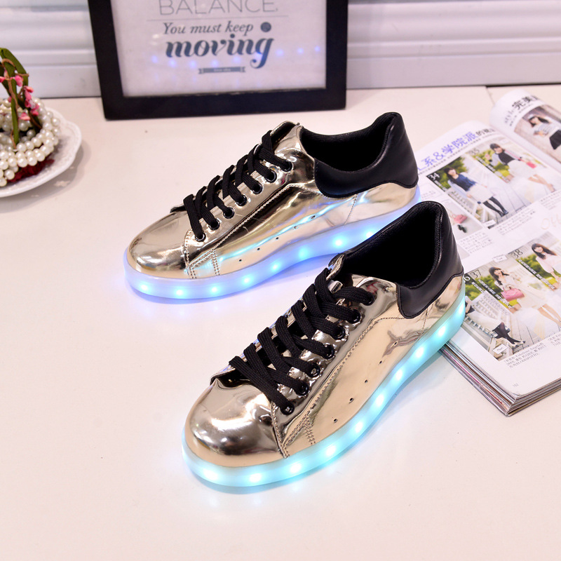 17 Baby Girls Boys LED Light Sneakers Colorful USB Charging for Kids Flashing Casual Flat students children Luminous Shoes 10