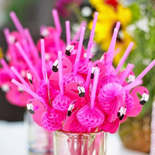 10pcs/pack Paper Drinking Straws Wedding Decoration Baby Shower Birthday Celebration Hawaii Carnival Party Supplies(China)