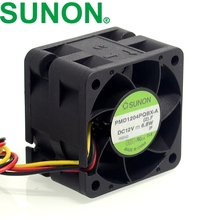 SUNON fan PMD1204PQBX-A 4CM 4028 12V 6.8W high- speed server fans 40*40*28mm(China)