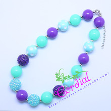 Hot Sell Free Shipping Kids Handmade Jewelry DIY Chunky Bubblegum Beaded Necklace Manufacturer For Amazon Ebay CDNL-410466