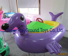 Child hand boats electric bumper boat inflatable pool water ball water roller ball toy(China)
