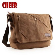 2016 Male Bag Canvas Retro Men's Shoulder Messenger Men The Tablet Clutch Portfolio School For Teenager Gift For A Man Bags(China)