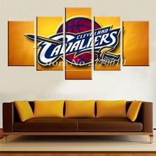 2017 Hot Fashion Modern Home Artwork Poster Basketball Picture Canvas Unframed Popular Team 5pieces Painting Bedroom Deco Ball