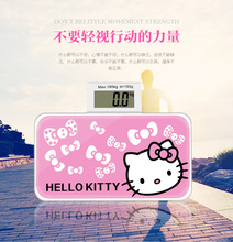 Cute Cartoon Hello Kitty Portable Bathroom scales smart household electronic digital Body bariatric LCD display Division value E