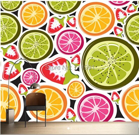 Free shipping custom 3D Funky Fruits Food Wall Mural Wallpaper fresco TV background wall wallpaper bedroom<br>