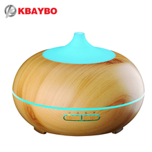 300ml Aroma Essential Oil Diffuser Wood Grain Ultrasonic Cool Mist Humidifier for Office Home Bedroom Living Room Study Yoga Spa(China)