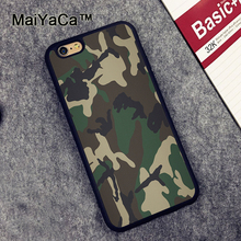 MaiYaCa Army Camo Camouflage Printed Soft Rubber Mobile Phone Case Accessories For iPhone 6 6S Plus 7 7 Plus 5 5S 5C SE Cover(China)