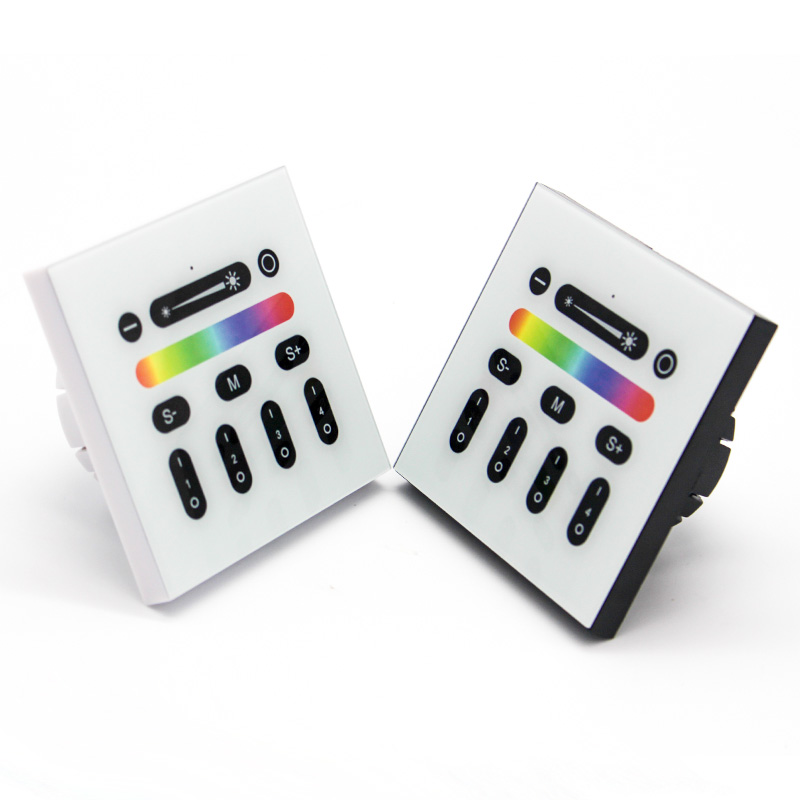 2.4G 4-Zone Touch Screen RGB RGBW Wall-mounted Touch Panel RF Remote Controller for Mi Light Led Bulb Led Strip Light<br><br>Aliexpress