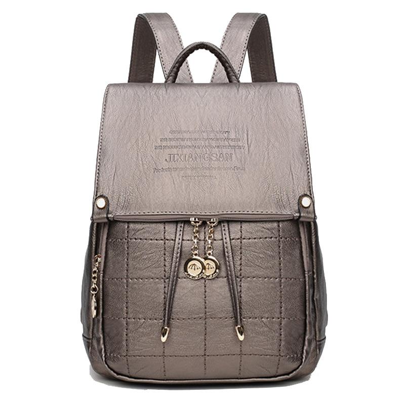 Free Shipping Vintage Womens Backpacks Leather High Quality Ladies Shoulder Bags Women Travel Rucksack Bolsas Mochila Femininas<br>