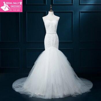 Mermaid Wedding Dresses Lace Wedding Gowns Vestido De Noiva Foto Real Online Shop China Bridal Dresses Beaded Sash MTOB1754
