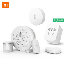 2017 Original Xiaomi Smart Home Kits Gateway Door Window Sensor Human Body Sensor Wireless Switch Humidity Zigbee Socket MI APP(China)
