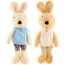 JESONN Dressed Stuffed Toys Bunnies Soft Plush Easter Rabbits Animals for Children's Gifts(China)