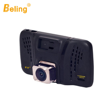 Beling Mini Car Video Recorder 4 inch IPS Screen DVR Night Vision Full HD Dash Camera 1080p Dual Lens Motion Detector Rear Cam