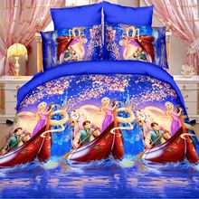 2017 New Girls Bedding Set Queen Twin Size Princess Comforter Set 100% polyester Print Duvet Cover Sets Kids And Adult Bed Sheet(China)