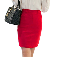 Fashion Women OL Pockets Pencil Skirt Ladies High Waist Tight Skirt Summer Sexy Red Black Package Hip Office Professional Skirts