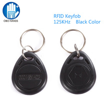 OBO HANDS EM4100 EM4102 125KHz RFID EM-ID Card Tag Token Key Chain Keyfob Read Only Color Black pack of 10(China)