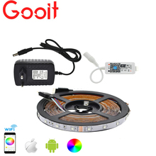 LED Strip Set 3528 RGB 5M/300LED Flexible Strip Light + Phone App Control MIni Wifi RGB Controller + 12V 3A Power Adapter