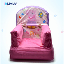 High quality and lovely pink pig baby toys inflatable wing chair inflatable sofa children can remove the condom sofa