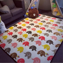 Fashion Yoga Mats Super Soft Crystal Velvet 190x195cm Big Carpet Baby Game Pad For Children's Bedside Crawling Blanket Alfombras