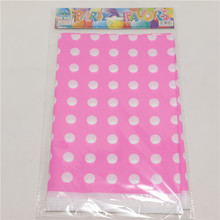 1pcs\lot Polka Dots Theme Baby Shower Tablecloth Happy Birthday Party Kids Favors Pink Tablecover Decoration Maps Supplies