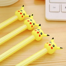 36pcs/lot Kawaii Yellow Spirit design 0.38mm black ink Gel pen DIY Signature pen office school stationery supplies Wholesale(China)