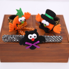 3 Pcs New Halloween LED Light Pumpkin Shaped Pops Circle Bracelet Ring Wristband Halloween Pat Ring Costume Party Favors Gift(China)